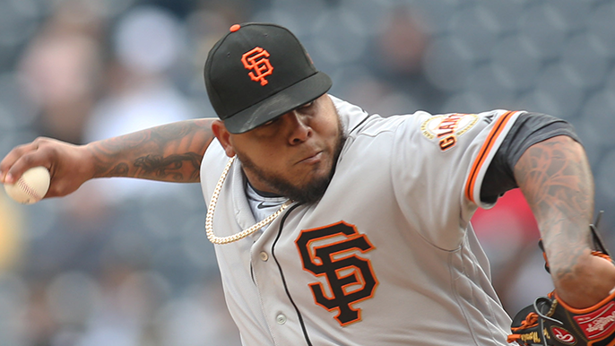 The Giants will be without Reyes Moronta for a long time