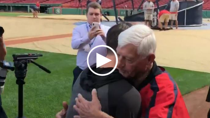 Mike and Carl Yastrzemski have their Fenway Park moment