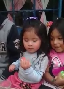 Little girl does magic trick with surprise ending