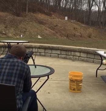 Guy shoots fridge filled with gasoline and dynamite and the reaction is priceless
