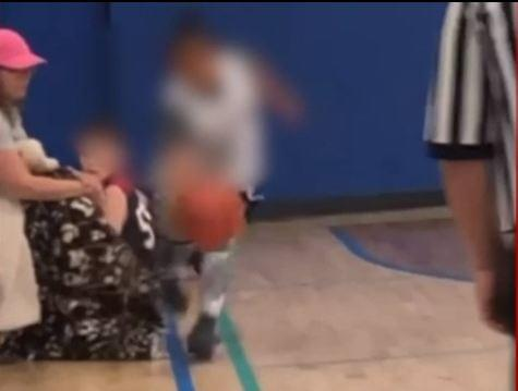A Mom Trips Player From Other Team During Youth Basketball Game