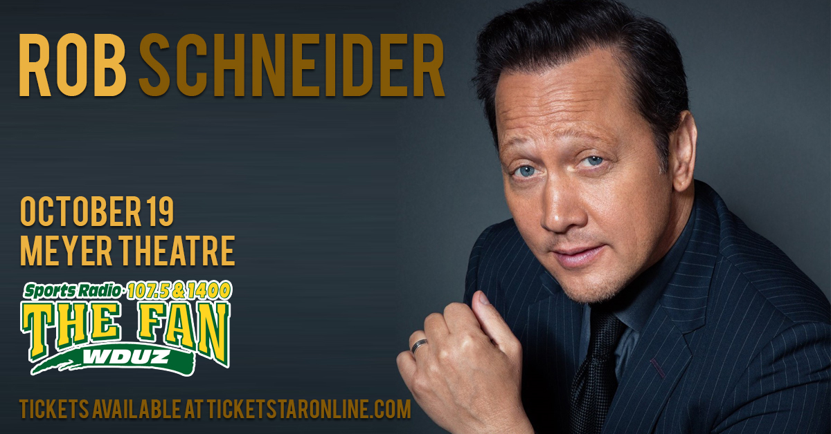 Rob Schneider is coming to Green Bay and we have tickets!  And a special Pre-Sale code!