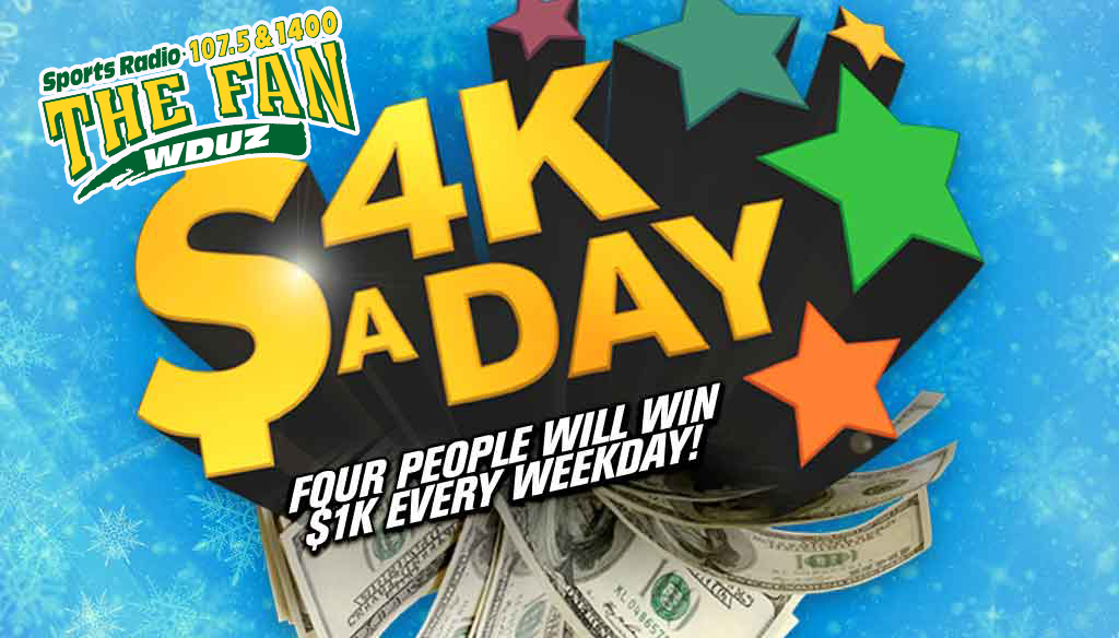 4K-a-Day: Listen to win $1,000