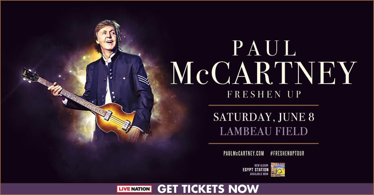 Sir Paul McCartney at La-La-La-Lambeau Field