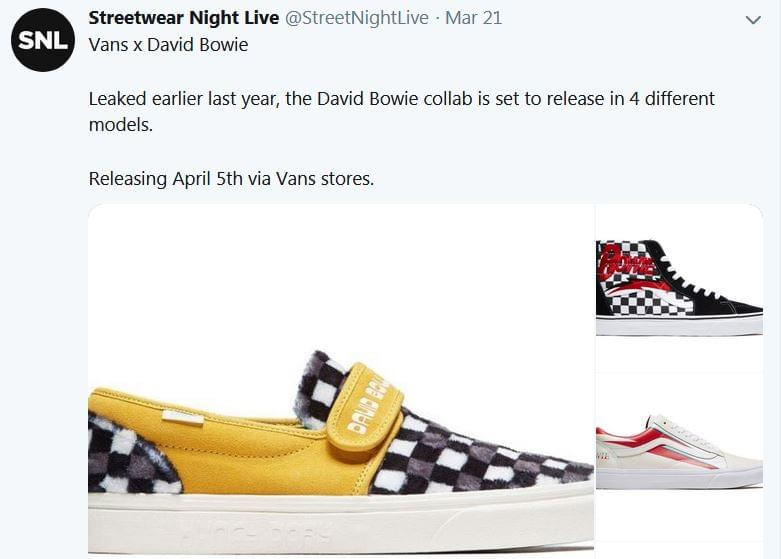 Vans to Release David Bowie-Themed Sneakers