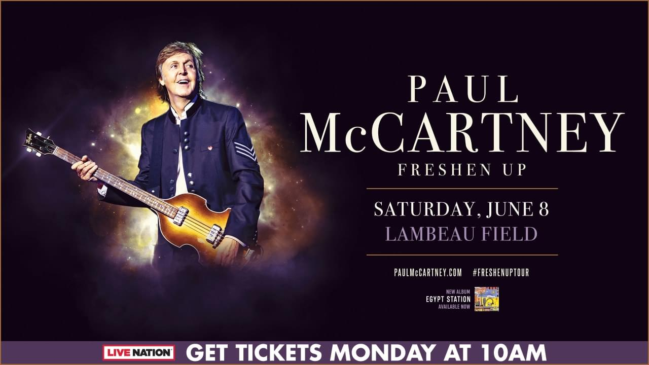 It's Official!  Sir Paul is coming to Lambeau and we've got Tickets!