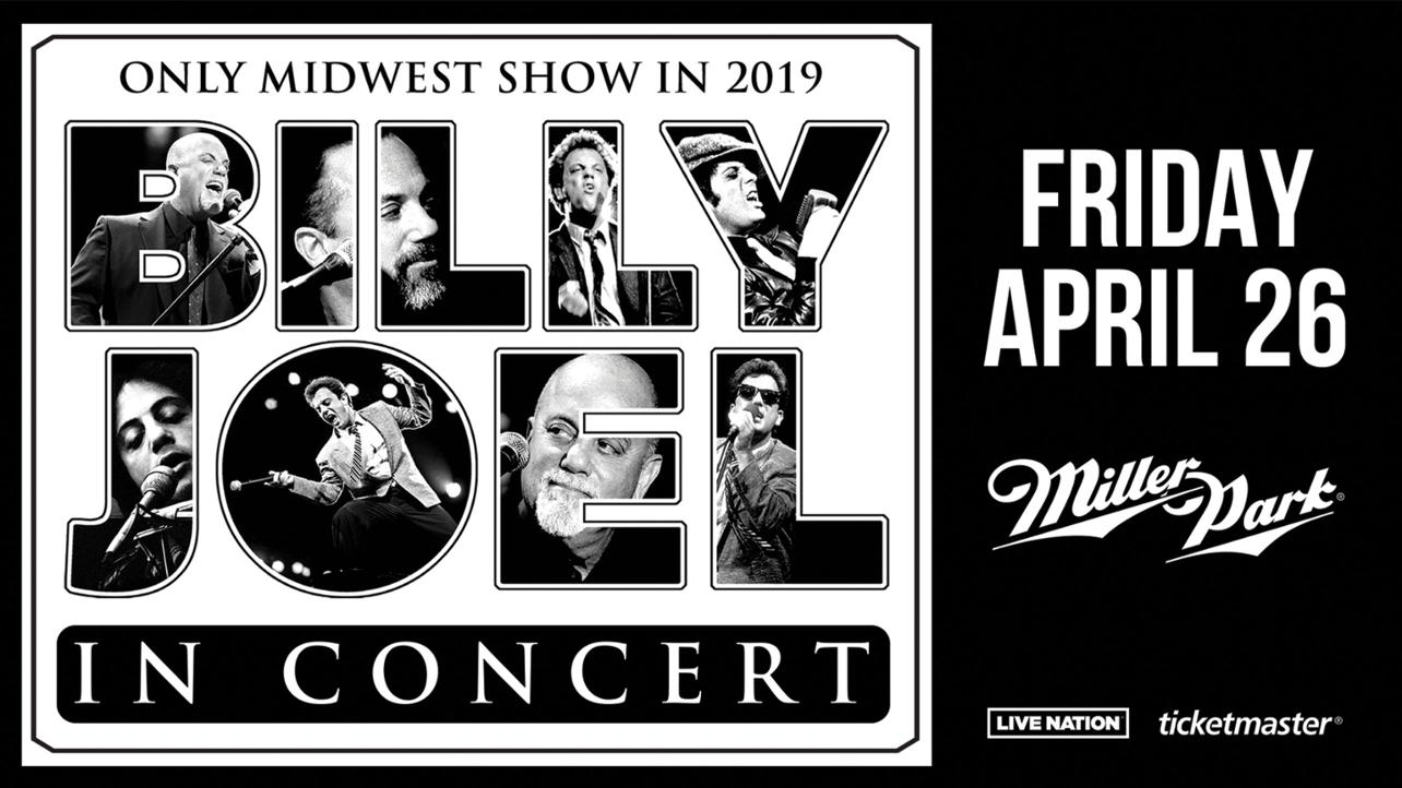 Here comes Billy!  Billy Joel is coming to Miller Park!