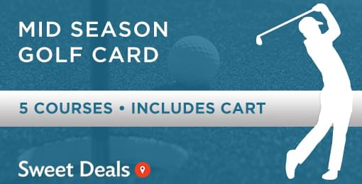 Whoa!!!  Check out this deal!!  18 Holes anda Cart at 5 AWESOME Courses for $75