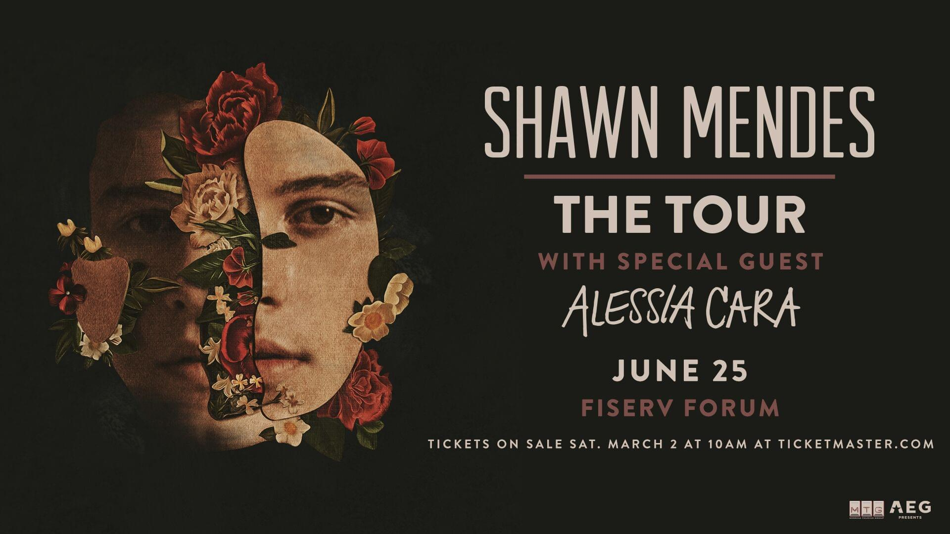 Win Tickets to see Shawn Mendes June 25th at Fiserv Forum!