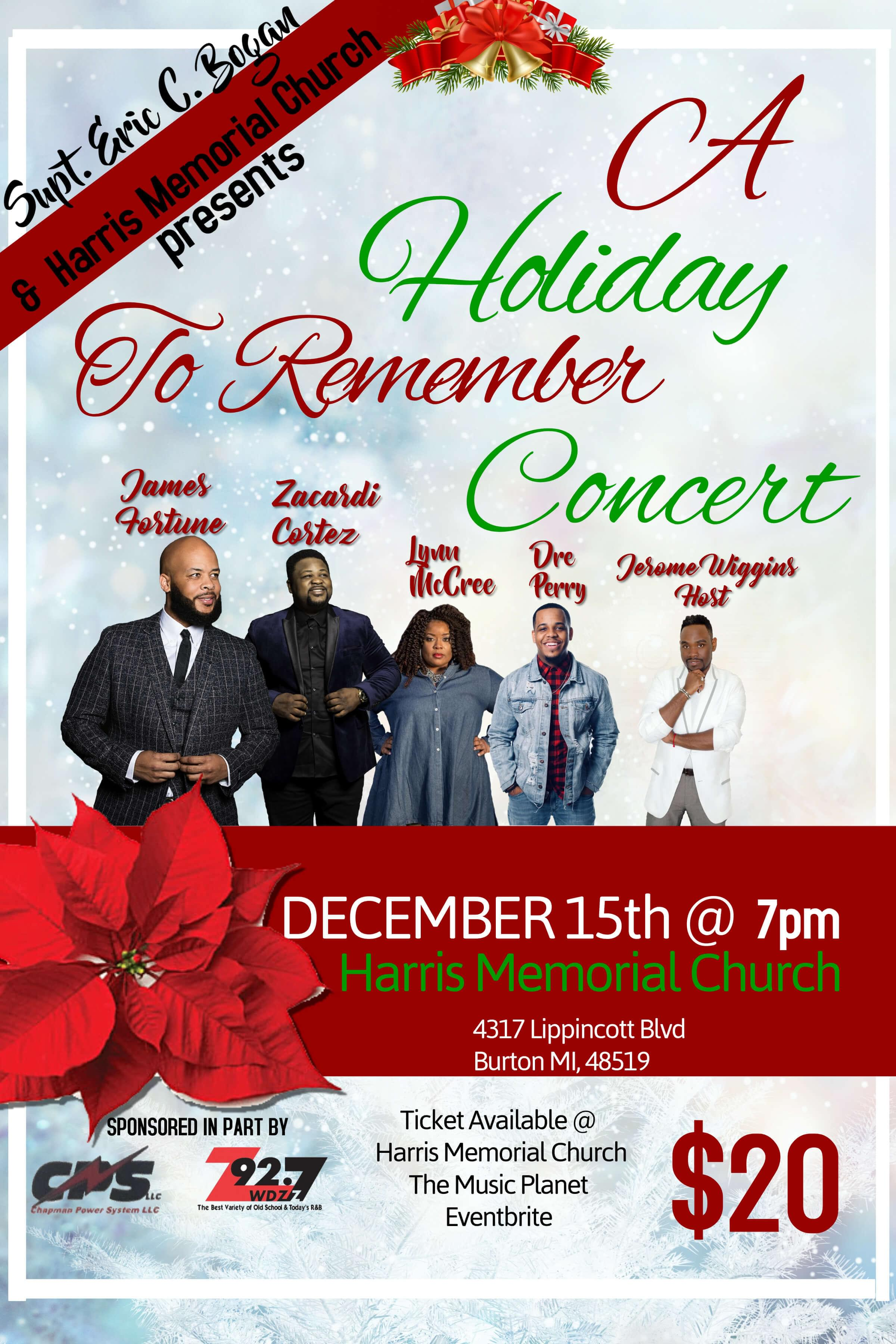 A Holiday to Remember Concert Tickets! | wdzz-fm