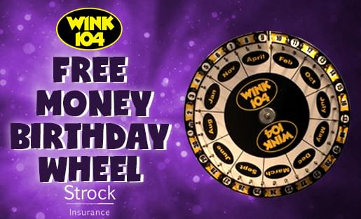 Free Money Birthday Wheel