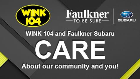 WINK 104 and Faulkner Subaru CARE!