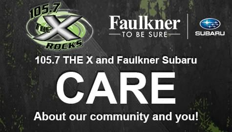 105.7 The X and Faulkner Subaru CARE!