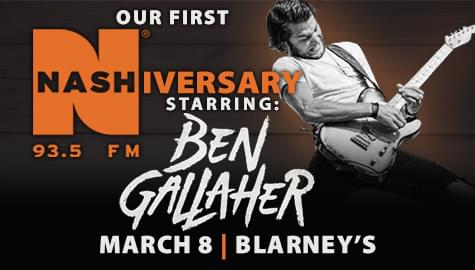 Join us for our first NASHiversary starring Ben Gallaher!