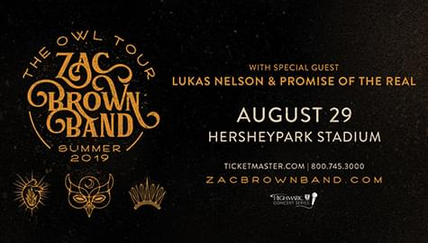 Zac Brown Band – The Owl Tour Summer 2019