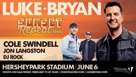 Luke Bryan – Sunset Repeat Tour tickets giveaway