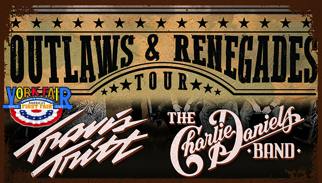 Travis Tritt & The Charlie Daniels Band at the York Fair – Register to Win!