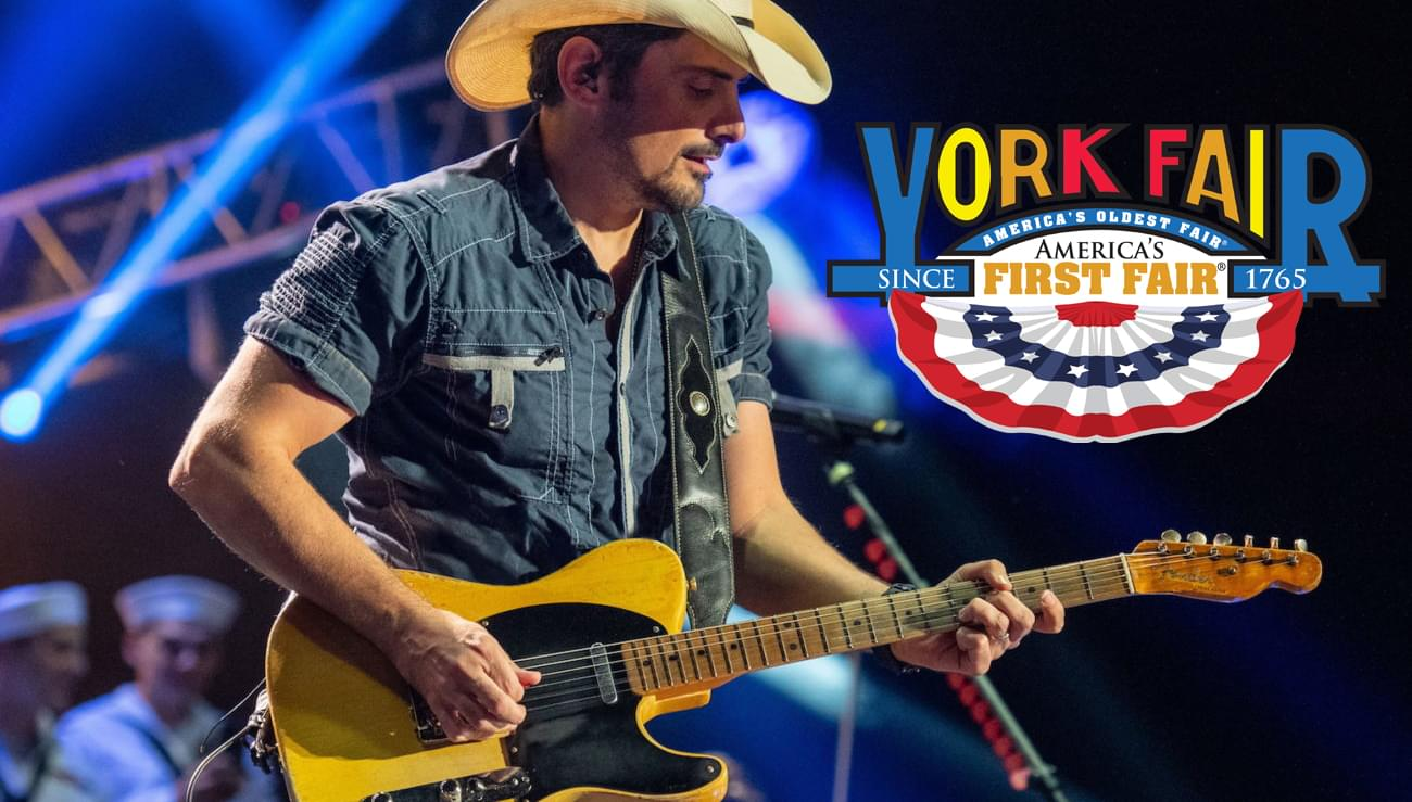 Brad Paisley at the York Fair – Register to Win!