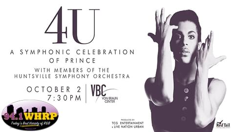 """Win Tickets To See """"4U: A Symphonic Tribute To Prince"""" – Oct. 2nd At The VBC!"""