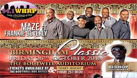 Win Tickets To The Birmingham Classic Starring Maze feat. Frankie Beverly – Friday, Oct. 26th!