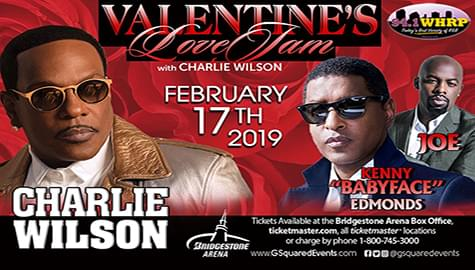 Win Your Tickets To The Valentine's Love Jam Starring Charlie Wilson, Babyface & Joe!