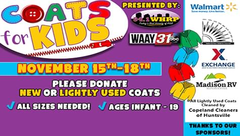 """Please Support 94.1 WHRP's """"Toni's Coats For Kids"""" – Nov. 15-18!"""