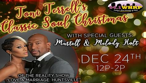 "Toni Terrell's ""Classic Soul Christmas"" – Christmas Eve From 12-2pm On 94.1 WHRP!"