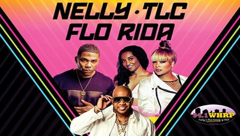 Win Tickets To See Nelly, TLC and Flo Rida – July 23rd In Tuscaloosa – With 94.1 WHRP!