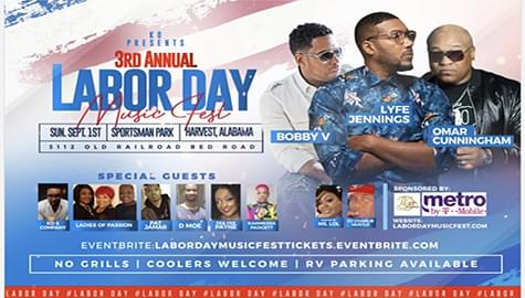 Win Tickets To The 3rd Annual Labor Day Music Fest – Sunday, Sept. 1st In Harvest!