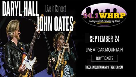 Win Tickets To See Daryl Hall & John Oates – Sept. 24th At Oak Mountain Amphitheater!
