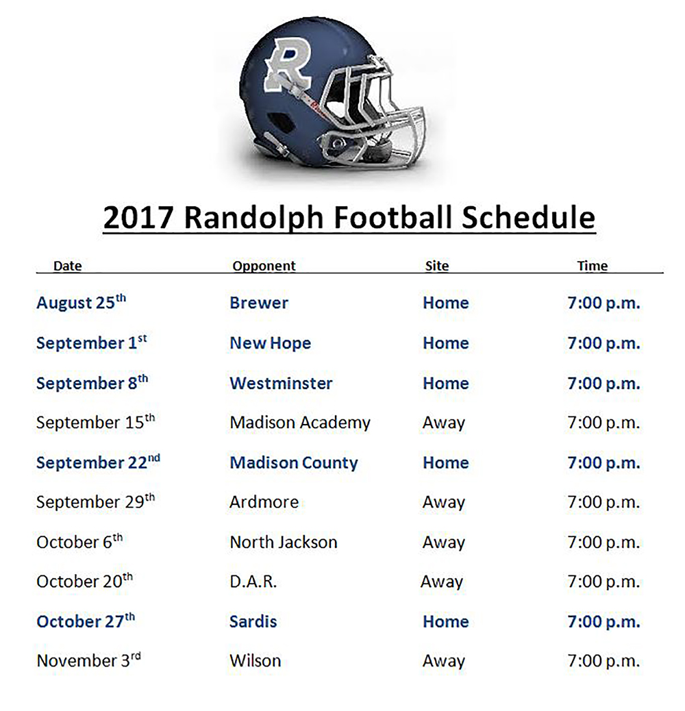 UMP Sports Is Your Home For Randolph HS Football!   WUMP-AF