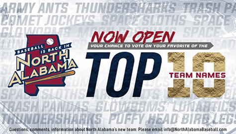 Baseball Is Back In North Alabama – Vote For The New Team Name!