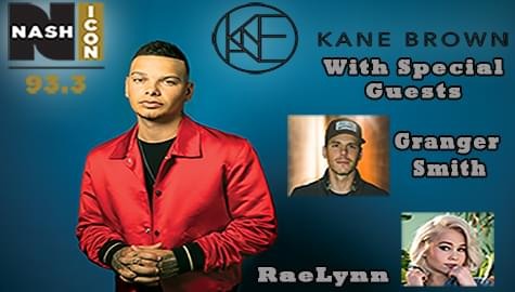 Win Tickets To See Kane Brown w/ Granger Smith & RaeLynn – Jan. 24th at the VBC!