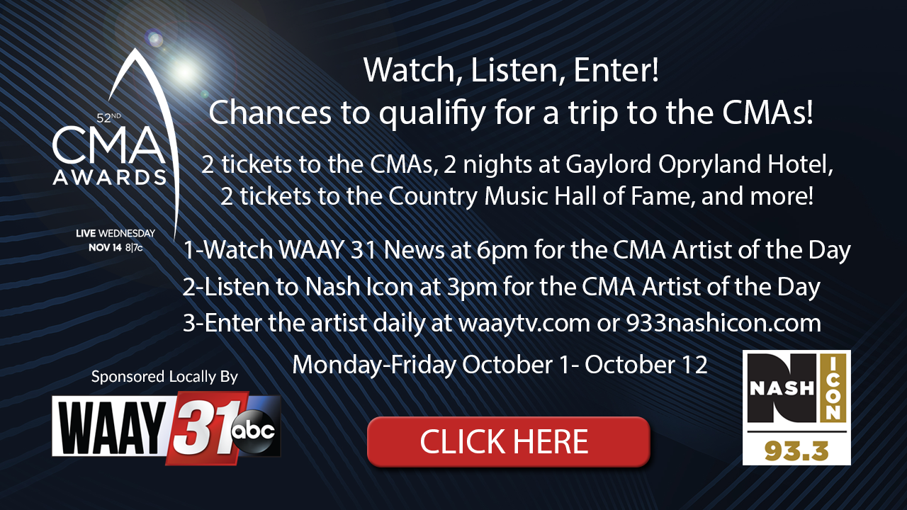 Win A Trip For 2 To The CMA Awards With 93 3 Nash Icon and