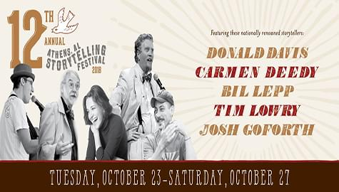 Win Tickets To The 12th Annual Athens Storytelling Festival – Oct. 23-27!