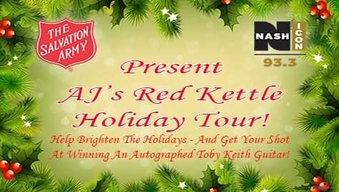 Join AJ's Red Kettle Holiday Tour With The Salvation Army!