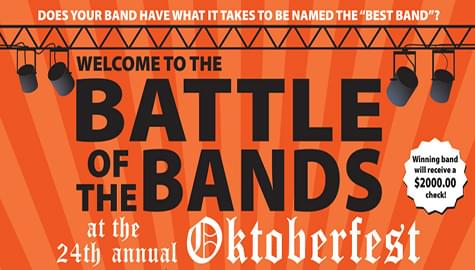 Join The Battle Of The Bands – Saturday, Sept. 14th At Oktoberfest!