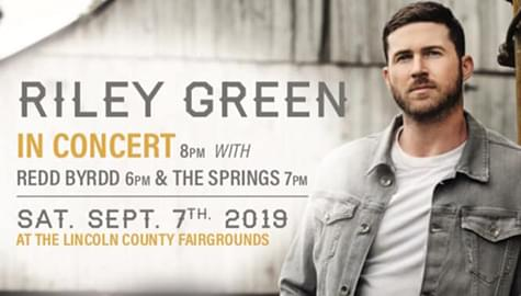 Win Tickets To See Riley Green – Saturday, Sept. 7th At The Lincoln County Fair!