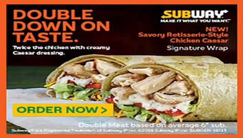 Win Subway® Gift Cards And Double Down On Taste With ZYP!