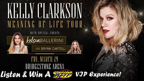 "Win A ""ZYP VIP"" Experience To See Kelly Clarkson – March 29th In Nashville!"