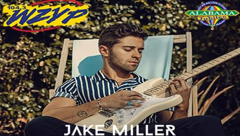 104.3 ZYP Welcomes Jake Miller To The Alabama Jubilee Hot Air Balloon Classic – May 25-26 At Point Mallard Park!