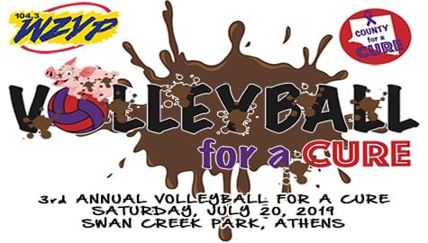3rd Annual Mud Volleyball For A Cure – Saturday, July 20th!