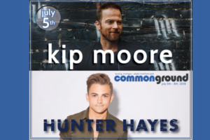 Win tickets to Kip Moore and Hunter Hayes at Common Ground!