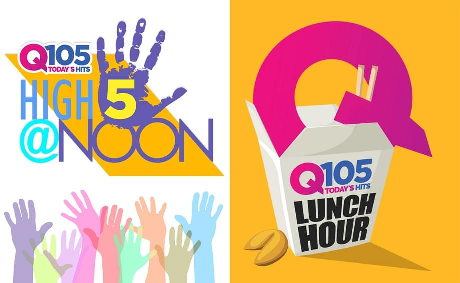 TODAY'S HIT LUNCH HOUR on Q105