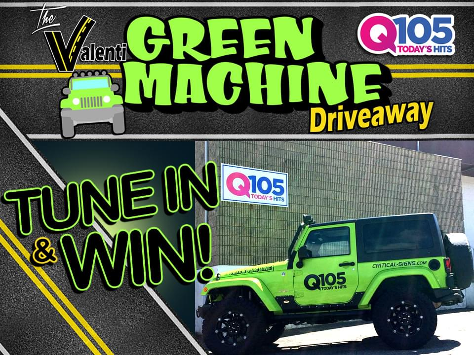 Q105's Valenti Green Machine Driveaway