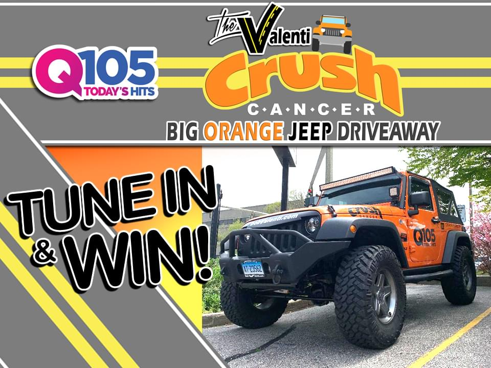The Valenti Big Orange Jeep Drive Away w/ Q105