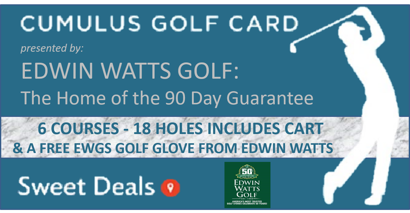 2019 Fall Edwin Watts Golf Cumulus Media Golf Card!