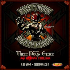 Five Finger Death Punch at Rupp Arena!!