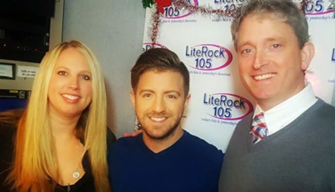 """Fresh off """"The Voice,"""" Billy Gilman stops by Lite Rock 105 to visit Heather & Steve"""