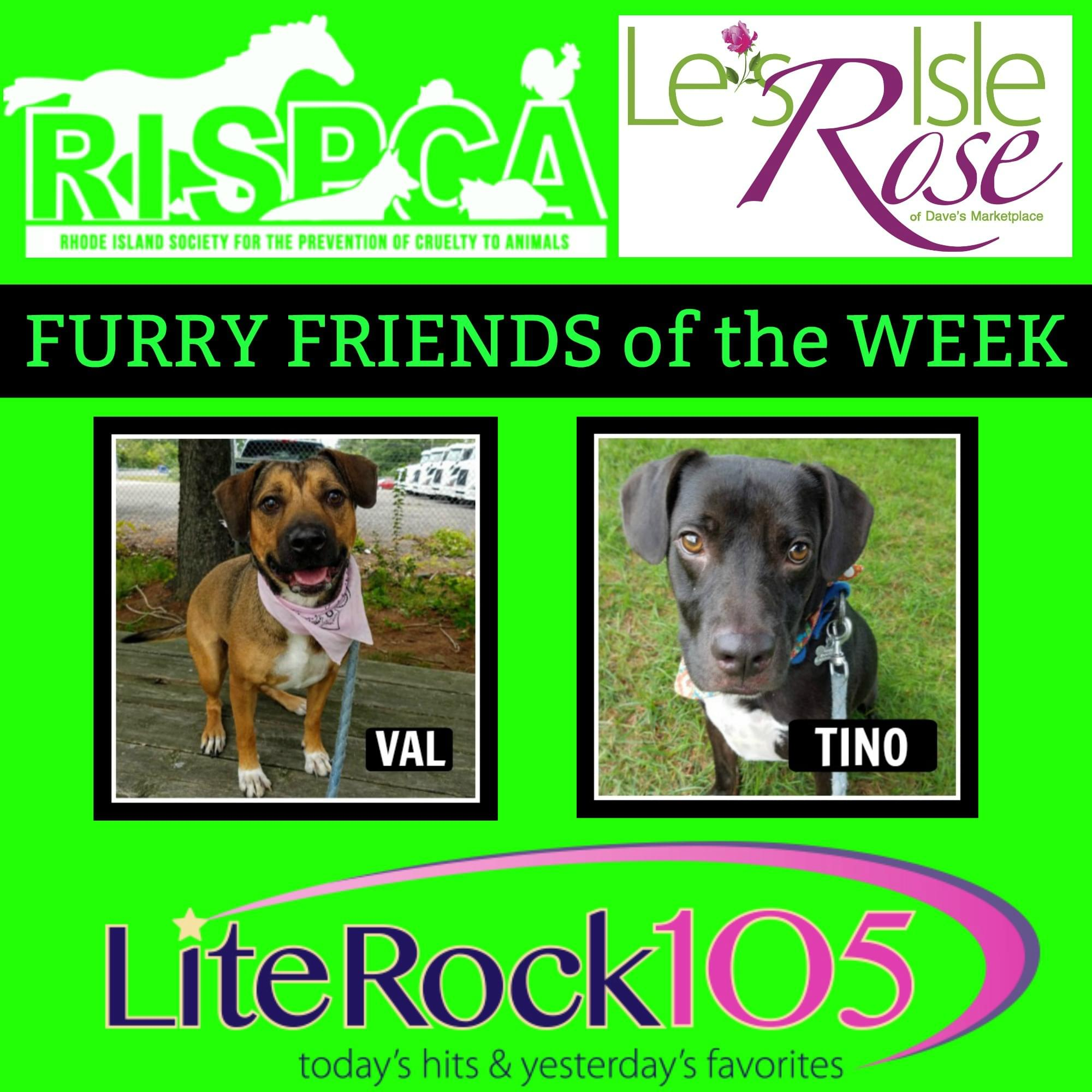 Val and Tino! Our FURRY FRIENDS of WEEK! (10-1-18)